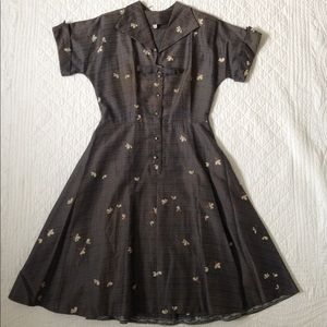 Vintage 1950's Shirtwaist Dress